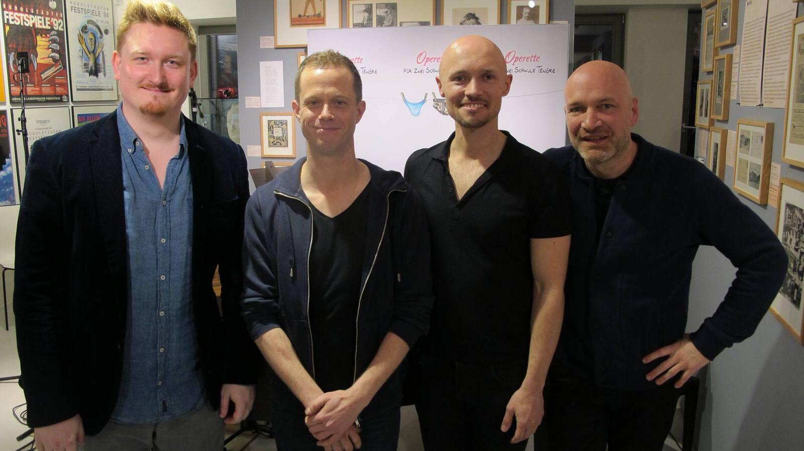 v.l.: Danile Philipp Witte, FLorain Ludewig, Eric Rentmeister, Johannes Kram