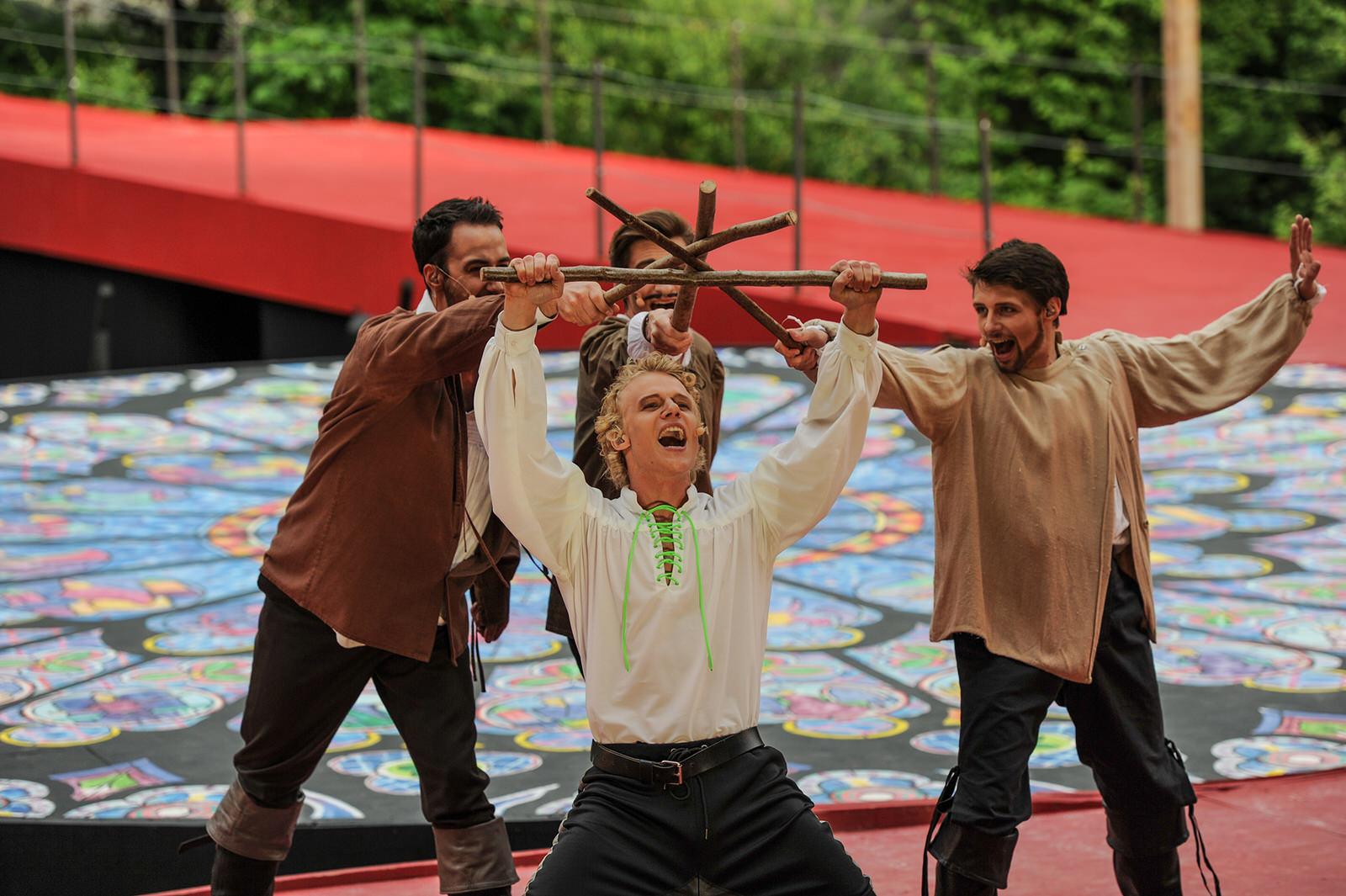 Tobias Bieri (vorne), Christian Bindert, Florian Weigel Maurice Ernst (Foto: Hans Jörg Michel)